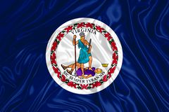 Vlag van Virginia royalty-vrije stock afbeeldingen