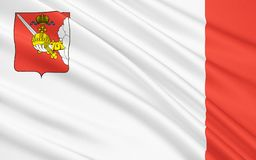 Vlag van Vologda-gebied, Russische Federatie vector illustratie