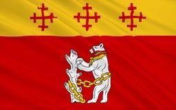 Vlag van Warwickshire Provincie, Engeland stock illustratie