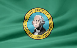 Vlag van Washington stock illustratie