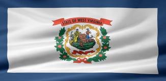 Vlag van West-Virginia vector illustratie