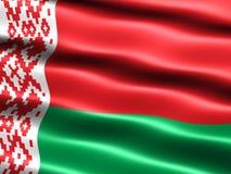 Vlag van Wit-Rusland Stock Afbeeldingen