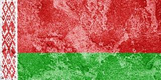 Vlag van Wit-Rusland met een geweven effect als achtergrond Royalty-vrije Stock Foto's
