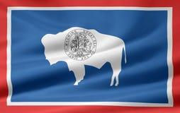 Vlag van Wyoming stock illustratie