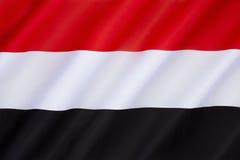 Vlag van Yemen Stock Fotografie