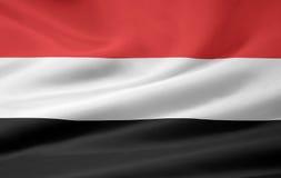 Vlag van Yemen stock illustratie
