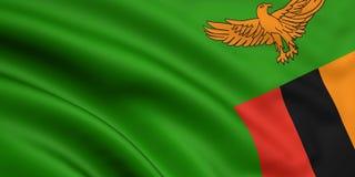 Vlag van Zambia Stock Afbeelding