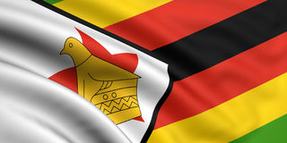 Vlag van Zimbabwe Royalty-vrije Stock Foto