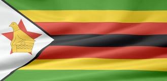 Vlag van Zimbabwe vector illustratie