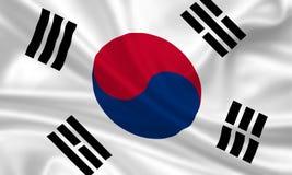 Vlag van Zuid-Korea Stock Afbeelding