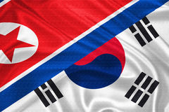 Vlag van Zuid-Korea Royalty-vrije Stock Fotografie