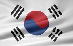 Vlag van Zuid-Korea Royalty-vrije Stock Foto