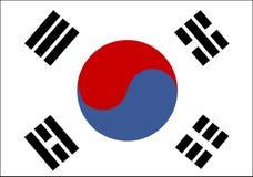 Vlag van Zuid-Korea Royalty-vrije Stock Afbeelding