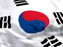 Vlag van Zuid-Korea Stock Fotografie