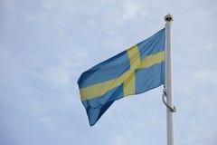 Vlag van Zweden stock afbeelding