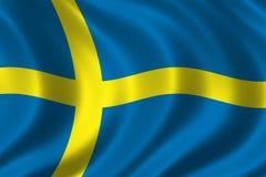 Vlag van Zweden Stock Foto's