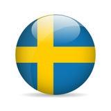 Vlag van Zweden Vector illustratie Stock Foto's