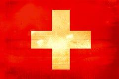 Vlag van Zwitser stock illustratie