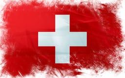 Vlag van Zwitser Stock Foto's