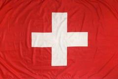Vlag van Zwitserland Stock Afbeeldingen