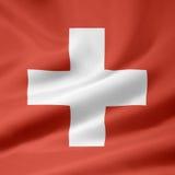 Vlag van Zwitserland royalty-vrije illustratie