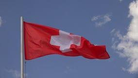 Vlag van Zwitserland 4K stock footage