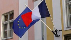 vlaggen stock video