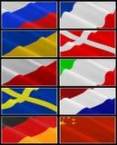 Vlaggen. Stock Foto