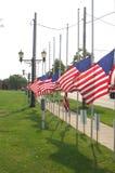 Vlaggen bij half personeel stock afbeeldingen