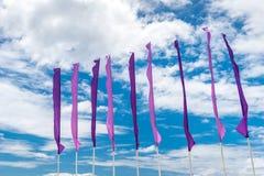 Vlaggen in de hemel Stock Foto