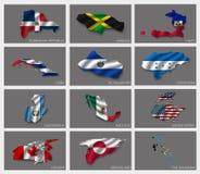 Vlaggen in de vorm van staten Royalty-vrije Stock Foto