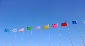 Vlaggen in de wind Royalty-vrije Stock Afbeeldingen