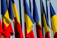 Vlaggen in de wind Stock Foto