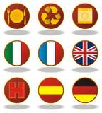 Vlaggen en andere pictogrammen Royalty-vrije Stock Afbeeldingen