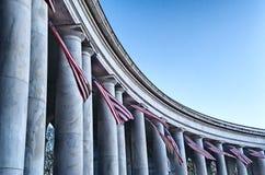 Vlaggen en Zonsopgang stock fotografie