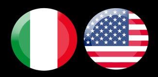 Vlaggen met de relaties van het land vector illustratie