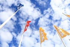 Vlaggen met Ikea-embleem Stock Foto's