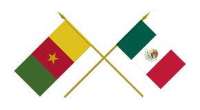 Vlaggen, Mexico en Kameroen royalty-vrije illustratie