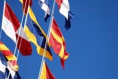 Vlaggen op een schip Royalty-vrije Stock Foto