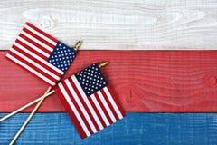 Vlaggen op Patriottische Lijst Stock Afbeelding