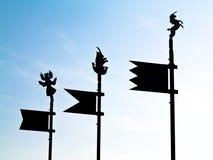 Vlaggen (Szigliget kasteelruïnes) Royalty-vrije Stock Afbeelding
