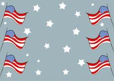 Vlaggen tegen sterren royalty-vrije illustratie