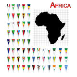 Vlaggen van Afrika Stock Afbeeldingen