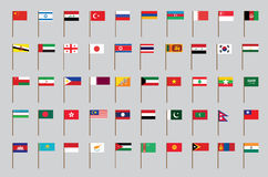 Vlaggen van Azië Royalty-vrije Stock Foto