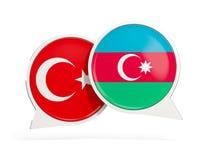 Vlaggen van de bellen van het de binnenkantpraatje van Turkije en azerbaijan vector illustratie