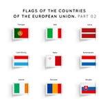 Vlaggen van de EU-landen Stock Afbeeldingen