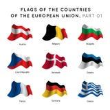 Vlaggen van de EU-landen Royalty-vrije Stock Afbeeldingen