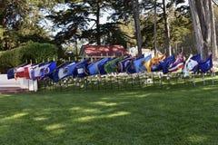 Vlaggen van de individuele Amerikaanse staten en de gebieden, de Nationale Begraafplaats Memorial Day 2018, 2 van Presidio stock foto's