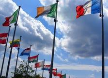 Vlaggen van de landen van de Unie Europaen Stock Afbeelding