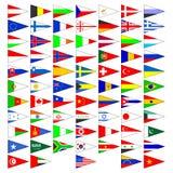 Vlaggen van de landen van de wereld. Stock Afbeeldingen